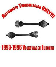 Volkswagen Eurovan 93-96 Front Left & Right CV Shaft Alxes A/T NEW