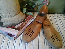 Pair Antique articulated Oak Wood Shoe Lasts~Unique Interior/shop Decor Prop~11