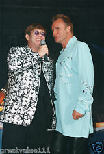 STING & ELTON JOHN PHOTO 1996 HUGE UNIQUE UNRELEASED 12 INCH IMAGE LONDON RARITY