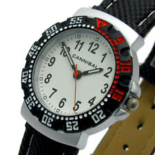 Cannibal Childs Junior Watch Analog White Dial Black/Red Bezel CJ091-01