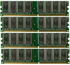 New Low Density 4GB 4x1GB PC3200 DDR400 184pin DDR1 NON-ECC DIMM Desktop Memory
