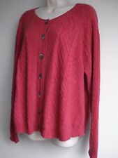 BRORA CARDIGAN Thick Pure Cashmere  uk 16 18 also fit 14 coral pink Worn once