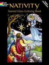 Nativity Stained Glass Coloring Book NEW Dover Marty Noble Christian Catholic