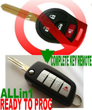 ALin1 FLIP KEY REMOTE FOR NISAN CHIP KEYLESS ENTRY CLICKER FOB TRANSPONDER 4S751