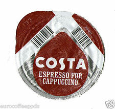 48x Tassimo Costa Espresso for Cappuccino Coffee T-discs (Sold Loose)