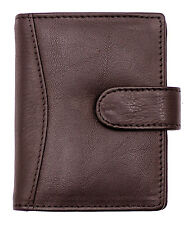 New Genuine Soft Leather Credit Card Holder Case Wallet For Mens Womens 602-BRN