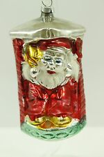 Antique Handblown Glass Christmas Ornament Made West Germany Santa Handpainted