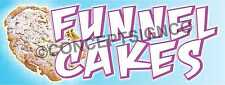 1.5'X4'  FUNNEL CAKES BANNER Outdoor Sign Carnival Fair Concession Stand Cake