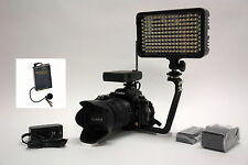 Pro 4K 12 WLM video light F570 wireless lavalier mic Canon 5D Mark 2 3 6D 7D 10D
