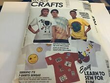 MCCALL'S Sewing Pattern 4304 NFF T SHIRTS HAPPY FACE TRANSFERS GLOBAL COW LOVE