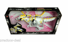 Walking Toy Robot Dinosaur Lights & Sound Action Figure Battery Operated White
