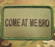 COME AT ME BRO TACTICAL US ARMY USA MILITARY MULTICAM MORALE HOOK PATCH