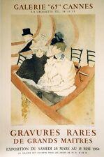 """""""LA GRANDE LOGE"""" Affiche originale entoilée Litho TOULOUSE-LAUTREC  54x81cm"""