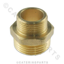 """1"""" X 3/4"""" BRASS STRAIGHT CONNECTOR REDUCER BUSH ADAPTOR FOR BSP PIPE THREAD"""