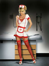 Nurse Juana B Sedated Halloween Party Female Doctor Costume Dress Gift 1X/2X