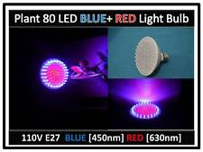 Doc Brown Plant Blue & Red Max Grow 80LED Light Bulb 110V E27 USA Engineer Cert