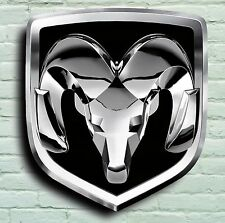 DODGE RAM LOGO 2FT GARAGE SIGN WALL PLAQUE AMERICAN CAR CHALLENGER CHARGER SRT