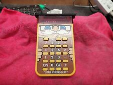 "Calculatrice Texas Instrument ""Little Professor"" 1978 Led rouge"
