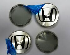 Set of 4 Honda Silver Racing Alloy Wheel Centre Cap 70mm Civic Accord Pilot