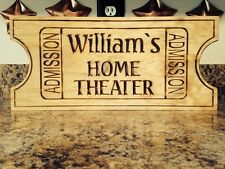 Personalized Home Theater Media Cinema Room Movie Ticket Basement Wall Decore