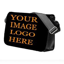 PERSONALISED BAG Your Image Logo or Text School College Messenger Bag
