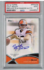 2012 Topps Prolific Playmakers Colt McCoy Auto PSA 9