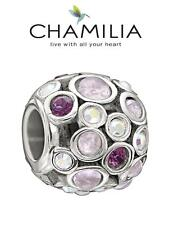 Genuine CHAMILIA 925 sterling silver & Swarovski CAPTIVATE purple charm bead