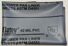 SHOWER PAN LINER( 6'X10') OATEY 40 mil. Gray (USA)