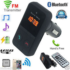 LCD Wireless Bluetooth Car Kit MP3 Player FM Transmitter Modulator SD USB Remote