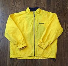 Vintage Polo Sport Jacket XL Ralph Lauren Yellow Windbreaker Bear Stadium