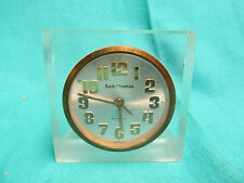 SETH THOMAS CLEAR LUCITE ALARM CLOCK MADE IN GERMANY