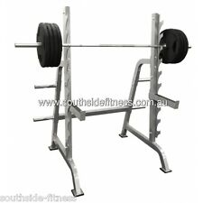 Light Commercial Squat Rack great for advanced trainers, heavy duty, olympic