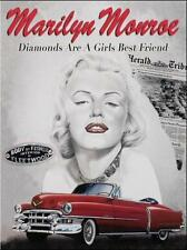 Marilyn Monroe Cadillac, Classic/Vintage American Car, Medium Metal/Tin Sign