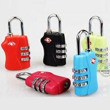TSA Resettable Security 3 Digit Combination Travel Suitcase Bag Lock Padlock New
