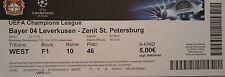 Ticket uefa cl 2014/15 bayer leverkusen-Zenit San Petersburgo