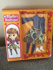 Kenner 1972 Blythe's Boutique Fashions Pinafore Purple Factory Sealed. Rare
