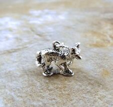 Sterling Silver Fox Charm fits European and Link Charm Bracelets - 0806