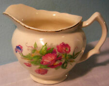 Old Chelsea Johnson Brothers Mde In England Sweet Pea Creamer gold Trimmed