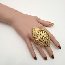 Indian Asian Bridal Jewellery Bollywood  Ethnic Wear 22ct Gold plated Ring