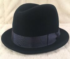 "New Country Gentleman ""FLOYD"" 100% Wool Men's Hat Fedora Trilby X-Large Navy"
