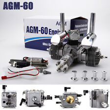 AGM60 60cc Twin Cylinder Gas Engine for RC Model PK DLE60