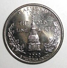 2000 Us Quarter, 25 cents, Dome of the Maryland State House coin