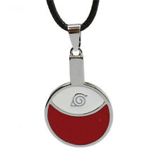 Anime Naruto Necklace Sasuke Uchiha Konoha Metal Pendant Cosplay Jewelry Gift