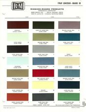 1969 LINCOLN CONTINENTAL COUPE SEDAN MARK III LIMOUSINE PAINT CHIPS (R-M)