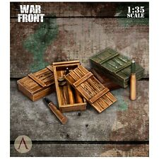 Scale 75 War Front German Ammo boxes & shells for 75mm 1/35th resin