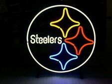 "New Pittsburgh Steelers Man Cave NFL Neon Sign 24""x20"""