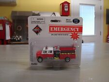 Boley Dept1-87 Fire Dept Crew Cab Fire Truck HO WHITE AND RED