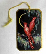 Vintage Bridge Tally Deco Style Tropical Birds