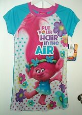 "DreamWorks Trolls Poppy ""Put Your Hair In The Air"" Nightgown Pajamas Sz 8 $36 RV"