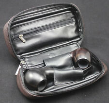 PU Leather VAUEN Durable Portable TOBACCO Smoking Pipe Pouch Bag FOR 2 PIPES #br